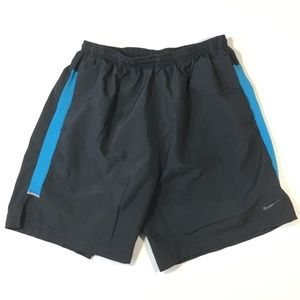 Nike Dri Fit Shorts Stretch Waist Drawstring Lined